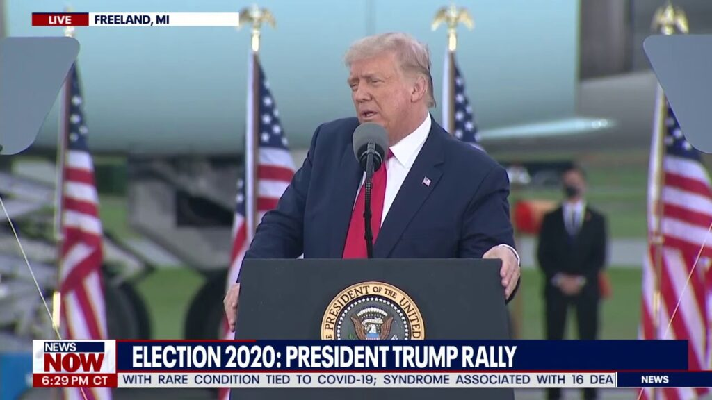 A Night At The Rally: Trump Speaks in Freeland